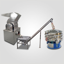 Spice grinding, conveying, screening line